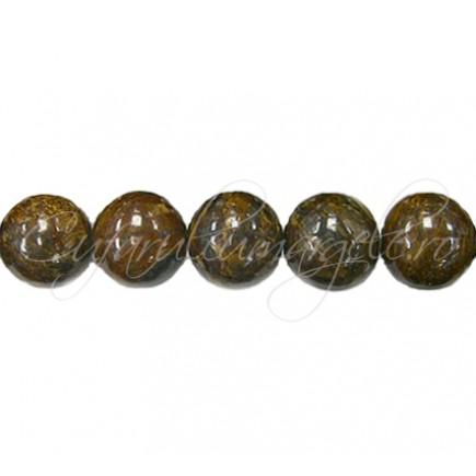 Margele bronzit sferic lucios 8 mm