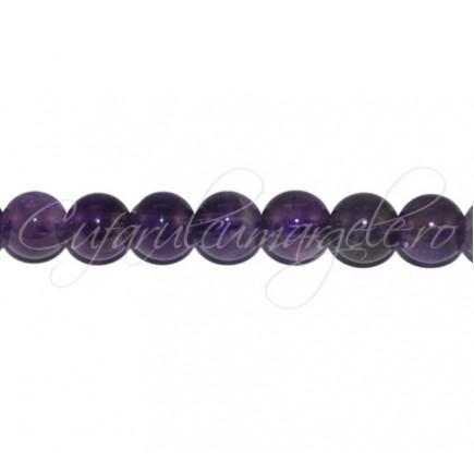 Margele de ametist sferic nefatetat 10mm
