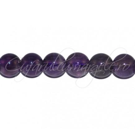 Margele de ametist sferic nefatetat 14mm