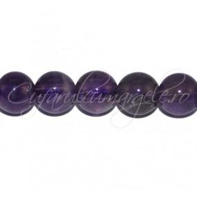Margele de ametist sferic nefatetat 16mm