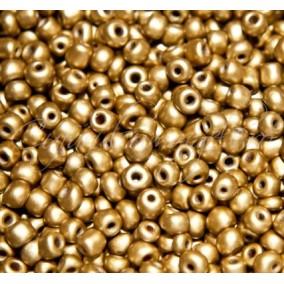 Margele de nisip 4 mm auriu satinat