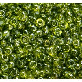 Margele de nisip 4 mm verde crud transparent
