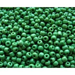 Margele de nisip 4 mm verde mat