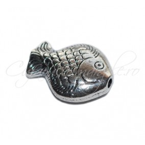 Margele metalice argintii peste 20x15x6 mm