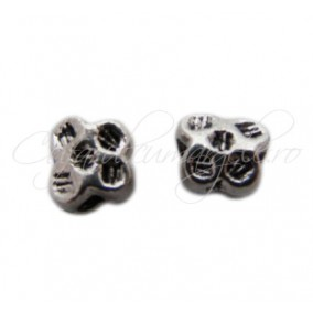 Margele metalice argintii spacer fluture 6x7x4 mm