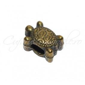Margele metalice bronz broasca testoasa 12x9x9 mm