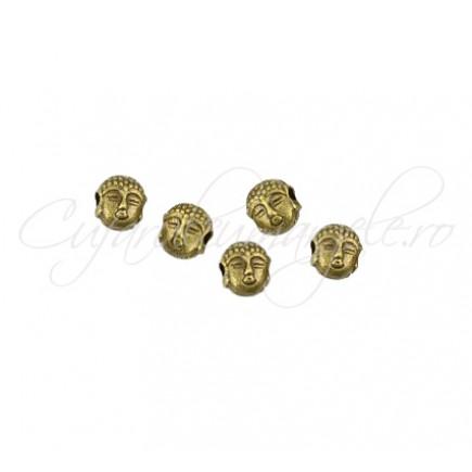 Margele metalice bronz Buddha 5x7x5 mm