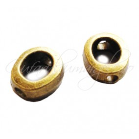Margele metalice bronz cadru 9x3mm