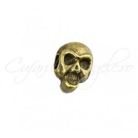 Margele metalice bronz cap de mort 12x7 mm