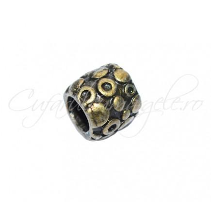 Margele metalice bronz cilindrice 10x9 mm