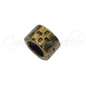 Margele metalice bronz cilindrice tip pandora 5x9 mm