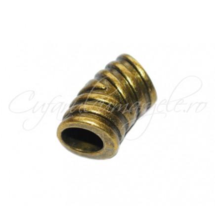 Margele metalice bronz cilindru curbat 20x12 mm