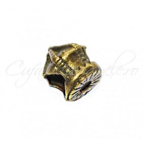 Margele metalice bronz coroana 10x10 mm