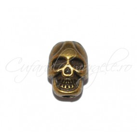 Margele metalice bronz craniu 11x8 mm