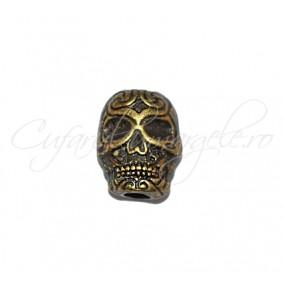 Margele metalice bronz craniu 12x8x6 mm
