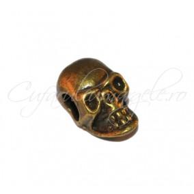 Margele metalice bronz craniu 15x8x6 mm