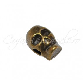 Margele metalice bronz craniu 9x6 mm