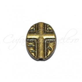 Margele metalice bronz cruce 11x8x2 mm