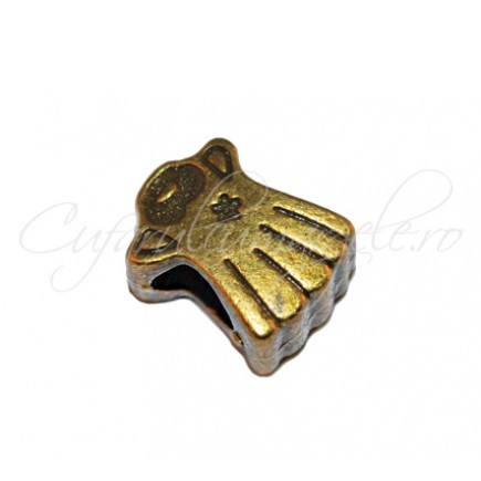 Margele metalice bronz ingeras 10x8x6 mm