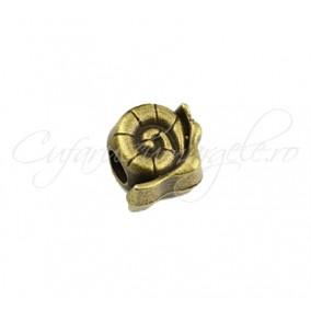 Margele metalice bronz melc 12x11x8 mm