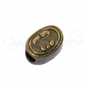 Margele metalice bronz ovale 12x9x7 mm