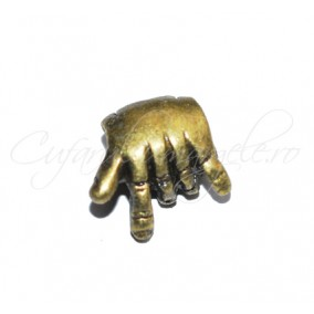 Margele metalice bronz rock on 10x5 mm