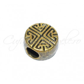 Margele metalice bronz rotunde 10x6 mm