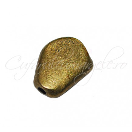 Margele metalice bronz spacer 12x9x3 mm