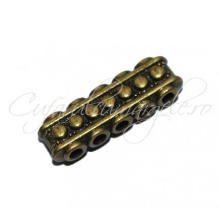 Margele metalice bronz spacer 5 orificii