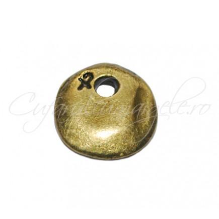 Margele metalice bronz spacer disc 12x2 mm