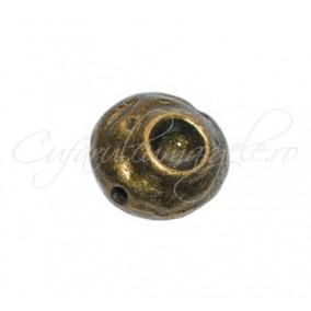 Margele metalice bronz spacer rotund 10x6 mm