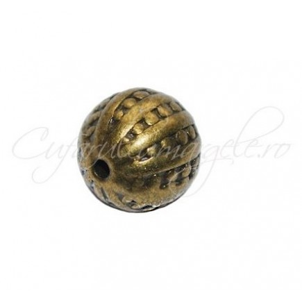 Margele metalice bronz spacer sferic 10 mm