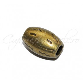 Margele metalice bronz tubulare 12x8mm