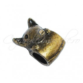 Margele metalice bronz vulpe 8x12x8 mm