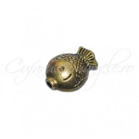 Margele metalice peste bronz 11x8x5 mm