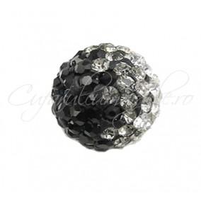 Margele shamballa 3 culori negru 10 mm