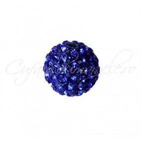 Margele shamballa albastru regal 6 mm