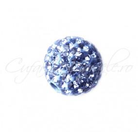 Margele shamballa bleu safir 8 mm