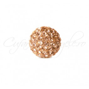 Margele shamballa crem 6 mm
