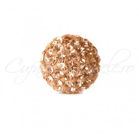 Margele shamballa crem 8 mm