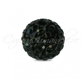 Margele shamballa negru 10 mm