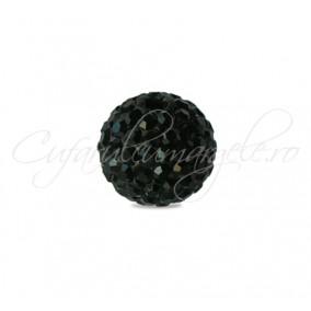 Margele shamballa negru 6mm