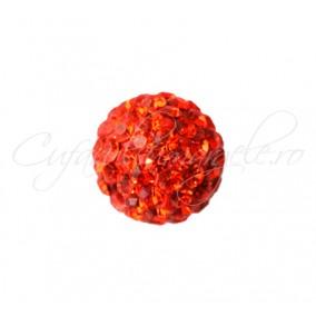 Margele shamballa oranj 6 mm