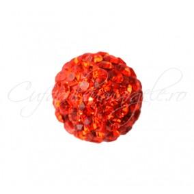 Margele shamballa oranj 8 mm