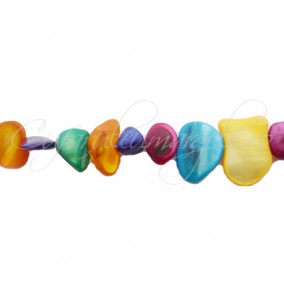 Margele sidef solzi neregulati mix culori 10 bucati
