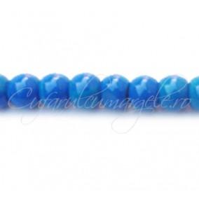 Margele sticla sirag albastru 8 mm