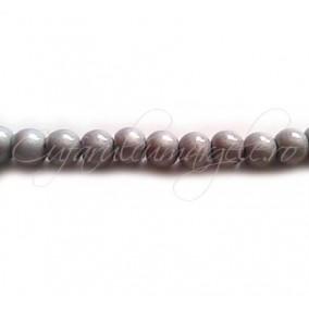 Margele sticla sirag argintiu 4 mm