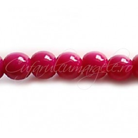 Margele sticla sirag fucsia 10 mm