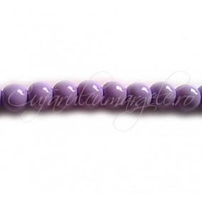 Margele sticla sirag lila 6 mm