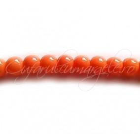 Margele sticla sirag portocaliu 6 mm